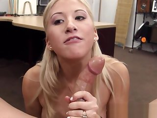 Real pawnshop crude sucking increased by spastic