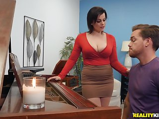 Milf piano teacher fucks student in rough scenes