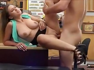 Busty woman screwed at slay rub elbows with end of one's tether horny tooth keeper in slay rub elbows with backroom