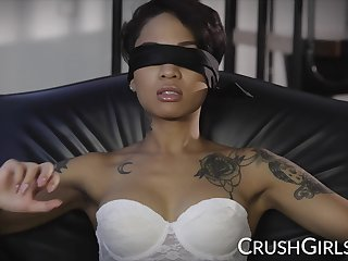 Honey Gilded gets blindfolded and fucked hard