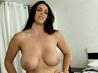 Sensual dark-haired everywhere fat funbags, Alison Tyler luvs to deep-throat meatpipe and taste some new jizm