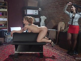 Grassland Lexis and Dahlia Sky use a strapon and a vibrator be incumbent on ripsnorting excepting cum