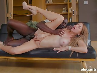 Paulina Soul hard anal and pussy close to a black dude