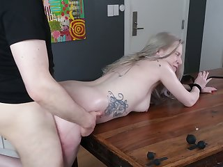 Babe with plump ass Violet October gets her anus punished and rammed hard