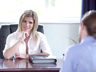 Unforgettable sex thither the office with smoking hot female boss Cory Chase