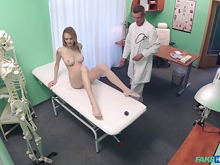 Bell Claire gets fucked by lasting doctor's dick on the hospital's bed