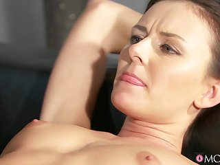 40 year-old woman anent sexy lingerie has desire for young babes.