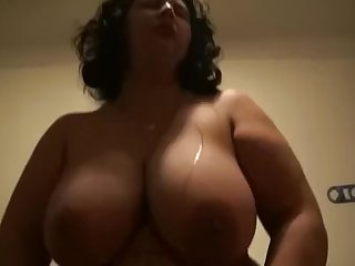 Cuckold gave a young guy a fuck his beamy wife.