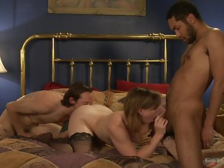 Threesome around dirty porn scenes for the amateur wife