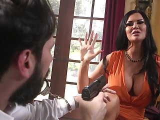 Thief in mask fucks tied on touching unlighted neonate with huge boobs Jasmine Jae