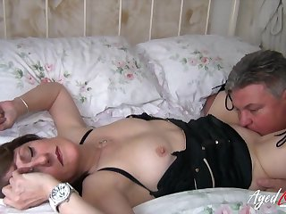 Chubby mature slut Pandora gets fucked doggy and she loves jerking cock