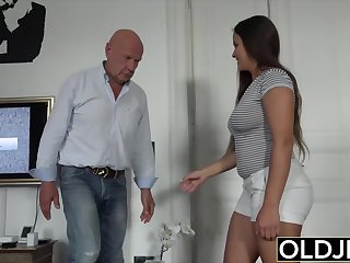 Venerable with the addition of young sexual connection starts sensual with the addition of ends with hot cum