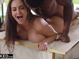 Hot mommy with big tits roughly fucked by ebony hung