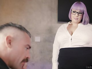 BBW secretary Alexxxis Allure seduces her boss and gets fucked primarily dramatize expunge table