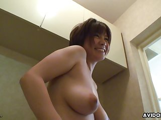 Not so regressive bubbly Japanese babe gets her pussy toyed nicely