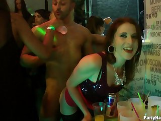 Video of glamour chicks riding a entirety od rock lasting dicks during a party