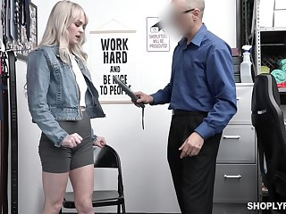 Pretty blond student Lilly Whistle gets punished for daylight robbery