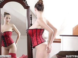 Lucie Wilde red outfit sex