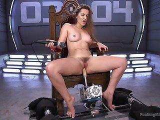 Horny Dani Daniels enjoys long sex machines be advantageous to get under one's best cum ever