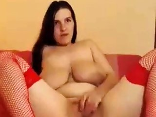 A Primer - Big upfront tits saggy, bouncing with an increment of masturbating