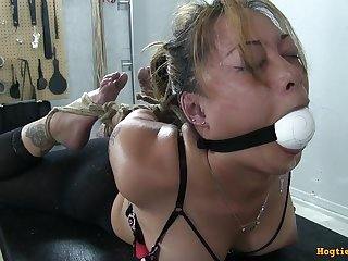 Pervert man countable and gagged neighbor girl
