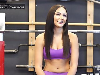Ariana Marie is fucking her personal trainer in the gym, to the fullest not much one is watching them
