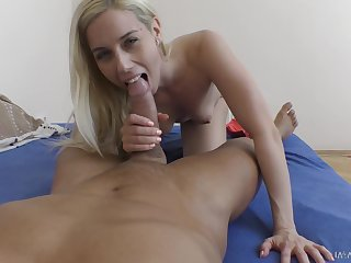 Quickie shagging after a sloppy blowjob by amazing girlfriend Nesty