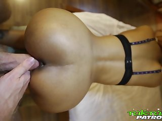 Slender Asian bitch Jean unattended loves bonking doggy in the tourist house