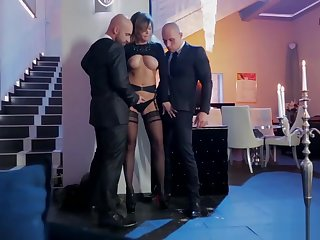 Anna Polina Gets DPd By Studs Neeo And Leny Ewil