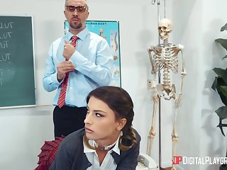 Irresistible schoolgirl Kristen Scott gets a lesson unfamiliar leading lady teacher