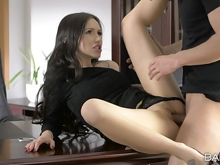 Liaison meeting ends with a good fuck and sperm on her clit