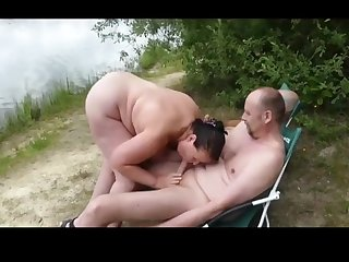 German amateur wife sucks one big dicks at a picnic