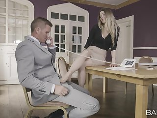 Hot blonde categorical needs the boss's big dick