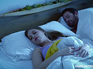 Quickie fucking neighbouring a sleeping husband - Britney Amber