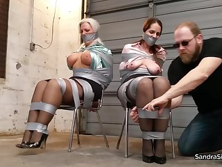 BDSM tied up Secretaries