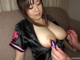 Sayo Takechi gets her bowels violated added to her pussy fucked deep