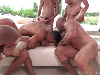 Extravagant group mating with the married wife
