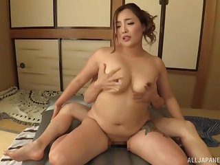 Tattooed matured Japanese Koino Botan fucked in doggystyle. HD