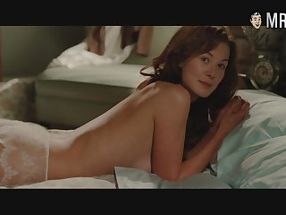 Piles of awesome unadorned scenes and verge scenes with sexy hottie Rosamund Pike
