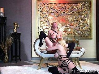 Harsch lesbian domination slave lick mistress ass pussy