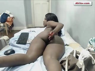 Hot African Cam Girl Chocolate Skin Screwing That Aggravation Good