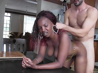 Real African Hooker Fucked increased by Facialized on Camera