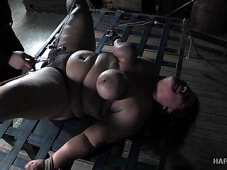 Super fat whore Karla Lane is punished in the dark BDSM precinct