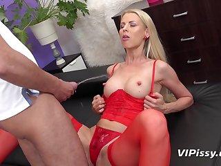 hot toddler in red stockings Lynna Nilsson peeing fetish