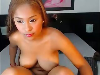 This well stacked Latina loves doing it on her own and she's so seductive