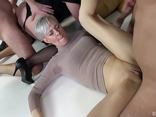 Wild sex orgy prevalent lot of cock hungry mature amateur sluts