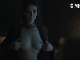 Red witch Melisandre Carice Be opposite act for Houten flaunting her big soul
