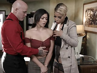 Lord it over headmistress Bridgette B and incorrect tutor Derrick fuck naughty pupil Brooklyn Gray