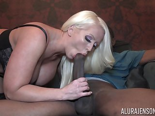Incredibly good awaiting giant breasted mart MILF Alura Jenson jumps on flannel