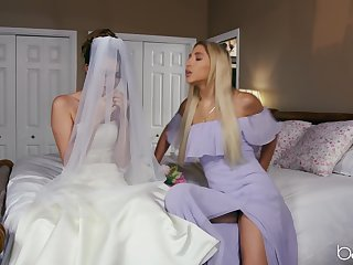Bride around be enjoys one perpetuate lesbian personify before getting married